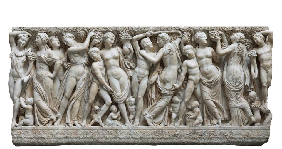 "The ancient Roman Farnese Sarcophagus is the centerpiece of the Isabella Stewart Gardner Museum's ""Life, Death & Revelry"" exhibition."