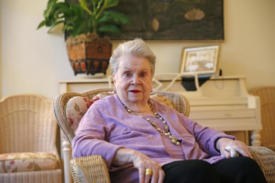In this Nov. 17, 2015, file photo, Ella Brennan poses for a photo during an interview in her home, adjacent to Commander's Palace Restaurant in New Orleans. Brennan, who couldn't cook but played a major role in putting New Orleans on the world's culinary map, died Thursday, May 31. 2018. She was 92. (AP Photo/Gerald Herbert, File)