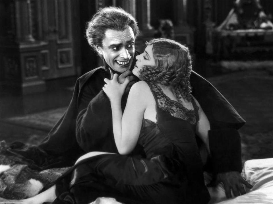 10nocalendar -- Victor HugoÕs captivating 1928 film, ÒThe Man Who Laughs,Ó will return to the screen in a new, 4K digital restoration, accompanied with an original score by the Berklee Silent Film Orchestra on Saturday, June 16 in Beverly at The Cabot. (Universal Pictures)