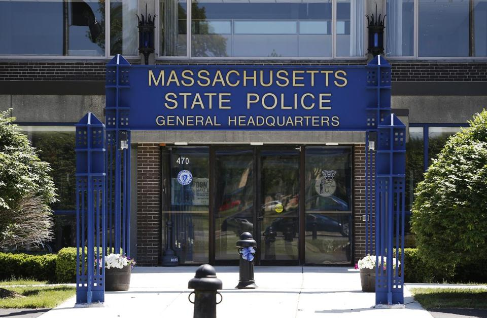 Massachusetts State Police headquarters is seen in Framingham.