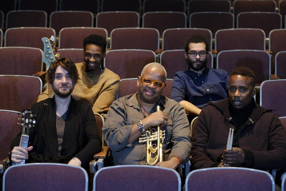 From left: Charles Altura, David Ginyard, Terence Blanchard, Fabian Almazan, and Oscar Seaton.