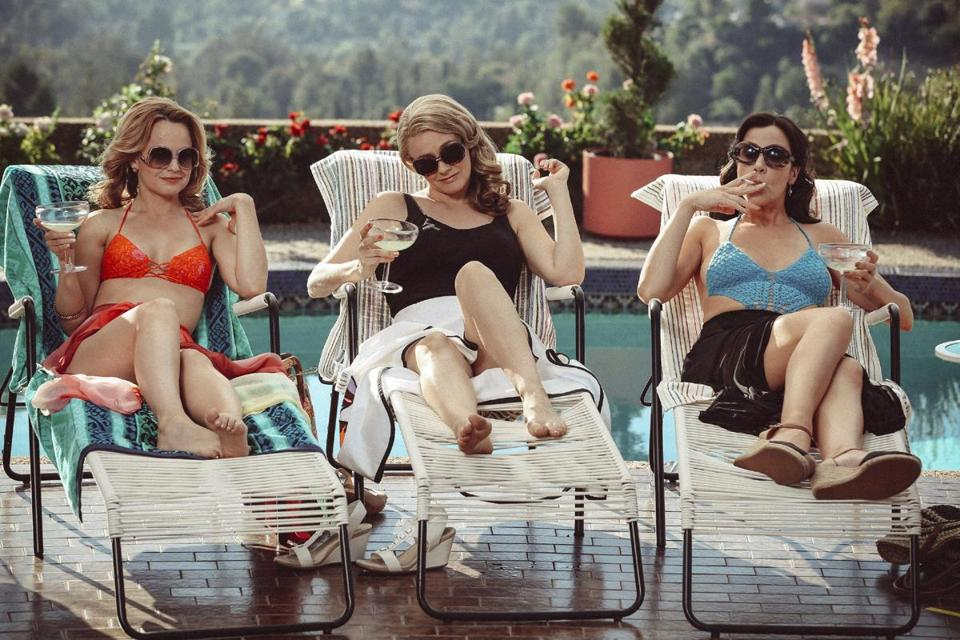 "From left: Mena Suvari, Alicia Silverstone, and Jennifer Bartels in ""American Woman."""