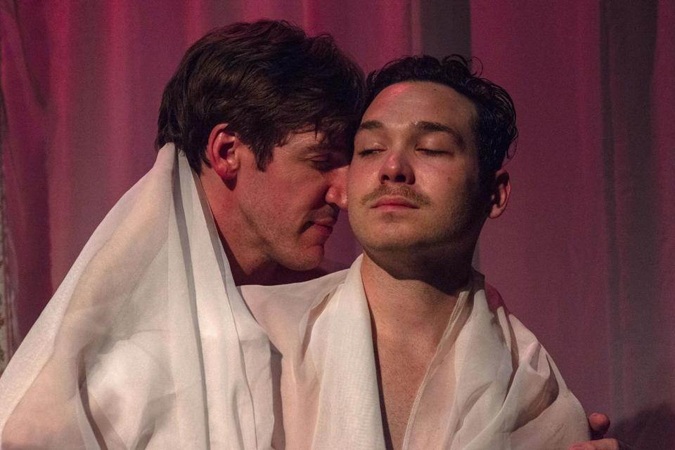 "Dan Whelton is Valmont and Eddie Shields is Tourvel in ""Les Liaisons Dangereuses."""