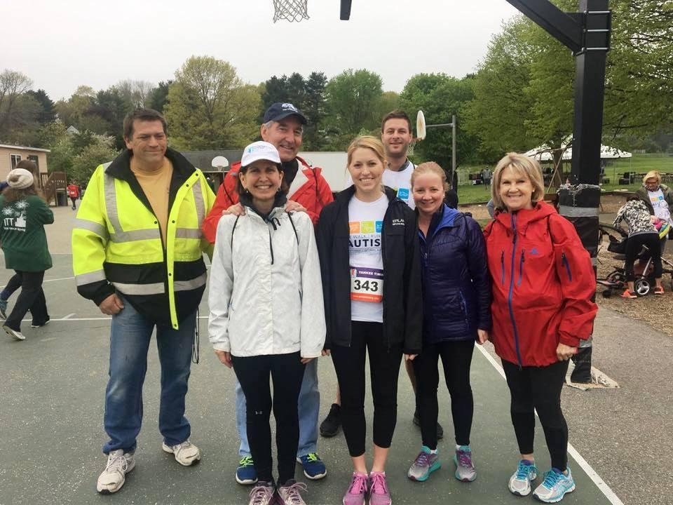 The Erland Construction team at the Walk/Run for Autism: (from left) John Suttie, Bill and Amy Mack, Chris Harrison, Nicole Pinkham, Heidi Aliski, and Nancy Martin. (handout)