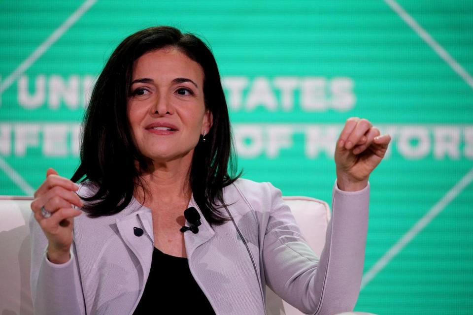 Sheryl Sandberg, chief operating officer at Facebook, spoke Friday at an event during the United States Conference of Mayors.