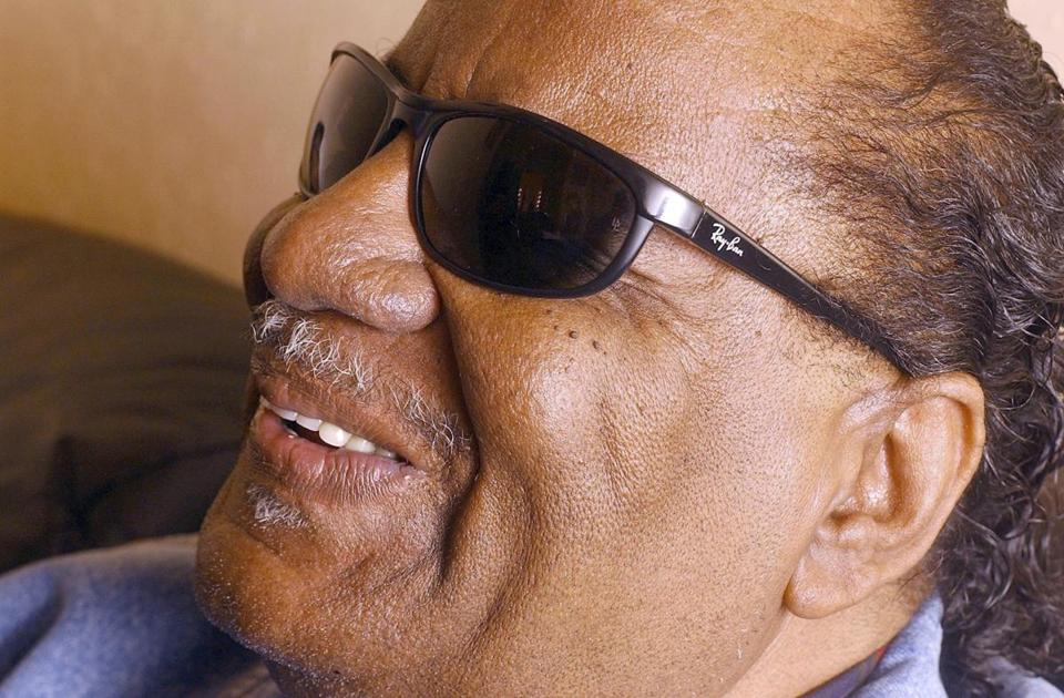 FILE - In this Jan. 11, 2001 file photo, Clarence Fountain, founder of the Grammy-winning gospel group The Blind Boys of Alabama, appears before a show in San Francisco. Fountain died Sunday, June 3, 2018, in a hospital in Baton Rouge, La. He was 88. (AP Photo/Justin Sullivan, File)