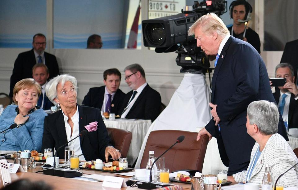 Merkel disappointed by Trump's u-turn on G7 statement