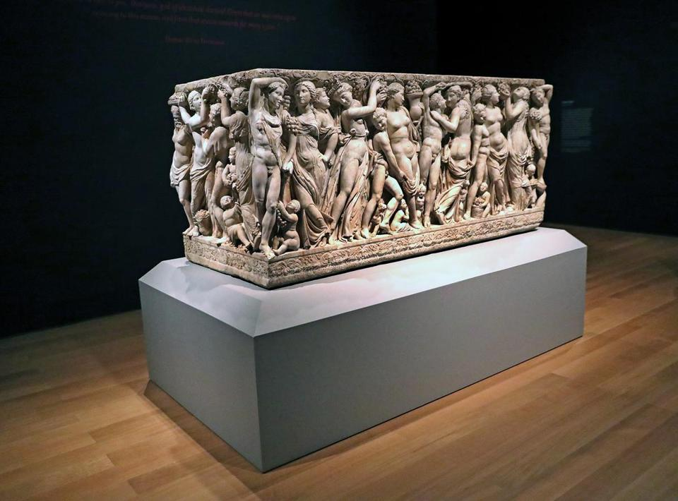 After months of restoration, the Farnese Sarcophagus is again on display at the Gardner Museum in a new exhibit.