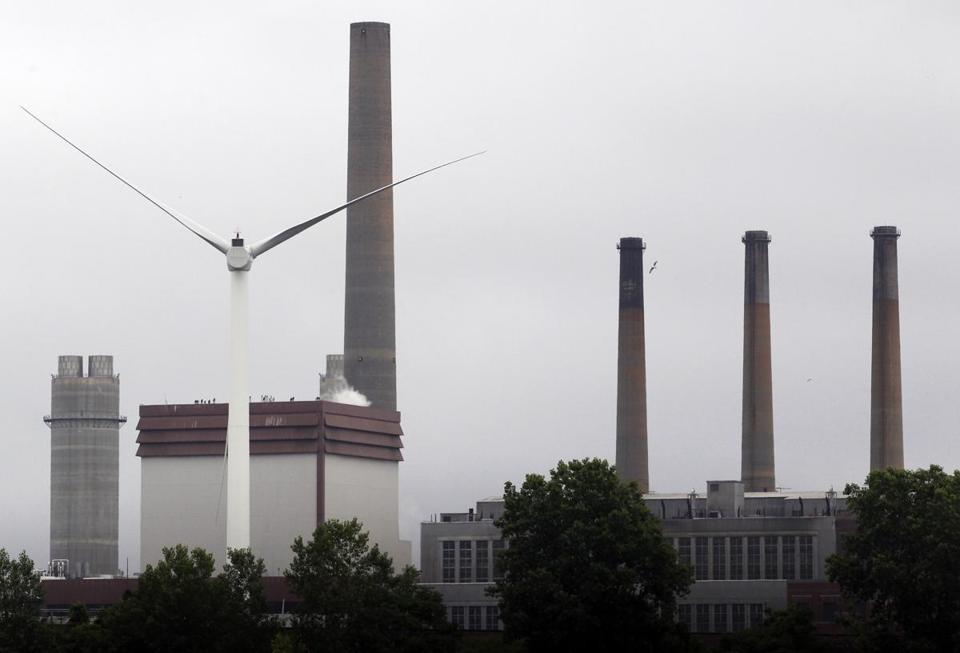A Chinese company built the Sinovel wind turbine in Charlestown using software it stole from a Massachusetts company, but the turbine's operator said it replaced the software with an authorized version in 2014.