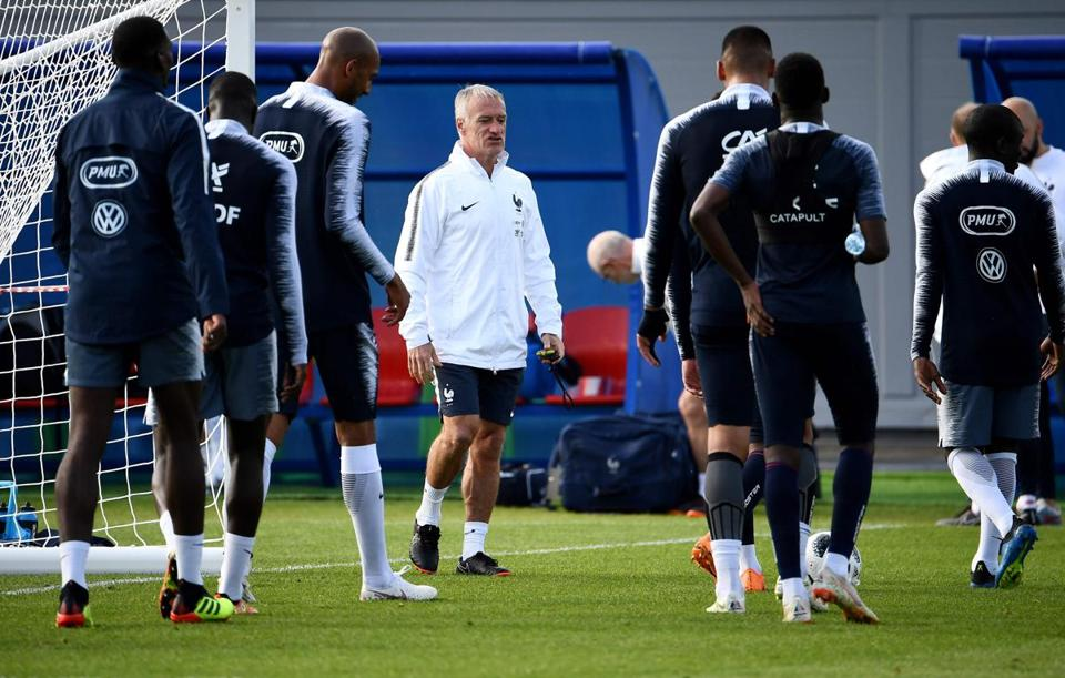 Didier Deschamps has ben France's coach since 2012.