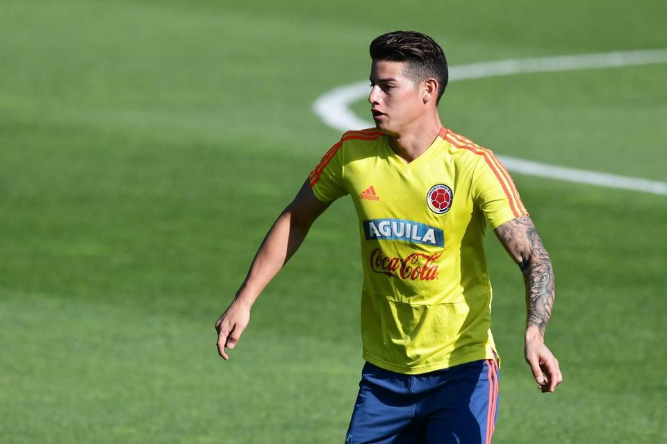 This is James Rodriguez's second World Cup. He scored six goals in the 2014 tournament.