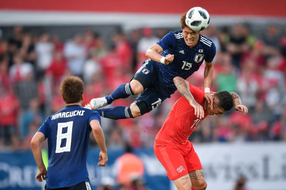 Hiroki Sakai (top) has made 41 appearances for Japan since 2012.