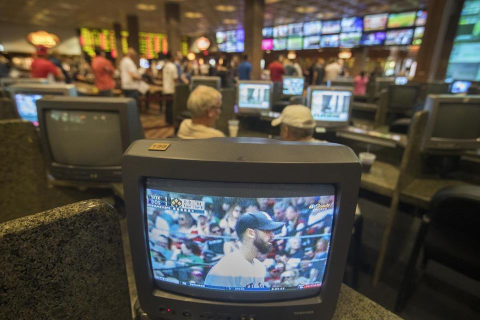 TVs are prevalent, so bettors can monitor the action.