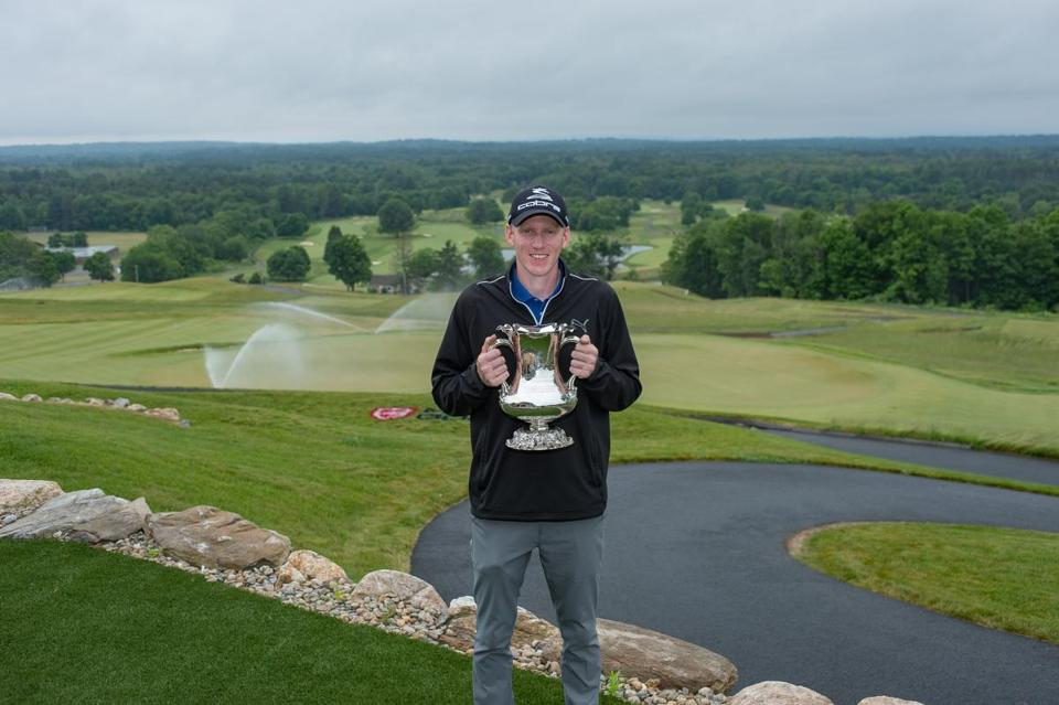 Hampden, MA: 06-13-2018: Jason Thresher after winning the Mass. Open at Greathorse in Hampden, Mass. June 13, 2018. Photo/David Colt, New England Golf Images (permission for use received from photographer)