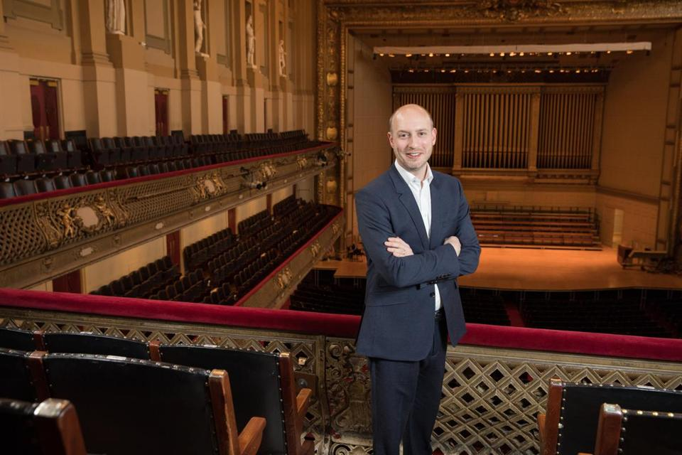 James Burton, the Tanglewood Festival chorus conductor and Boston Symphony Orchestra choral director, at Symphony Hall.