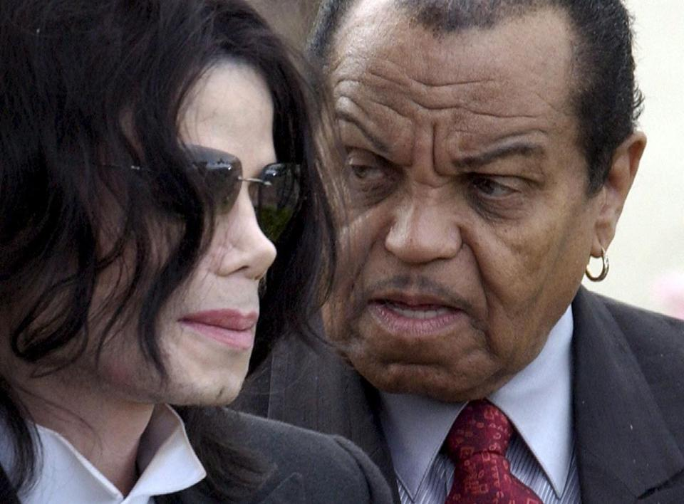 Mandatory Credit: Photo by JOSHUA GATES WEISBERG/EPA-EFE/REX/Shutterstock (9729021a) Joe Jackson Joe Jackson dies at 89, Santa Maria, USA - 26 Aug 2008 (FILE) - A file picture dated 21 March 2005 shows US singer Michael Jackson (L) exit the Santa Barbara County Courthouse with his father Joe Jackson (R) in Santa Maria, California, USA (reissued 27 June 2018). According to media reports, Joe Jackson has died at a Los Angeles hospital on 27 June 2018, after suffering from cancer. He was 89.