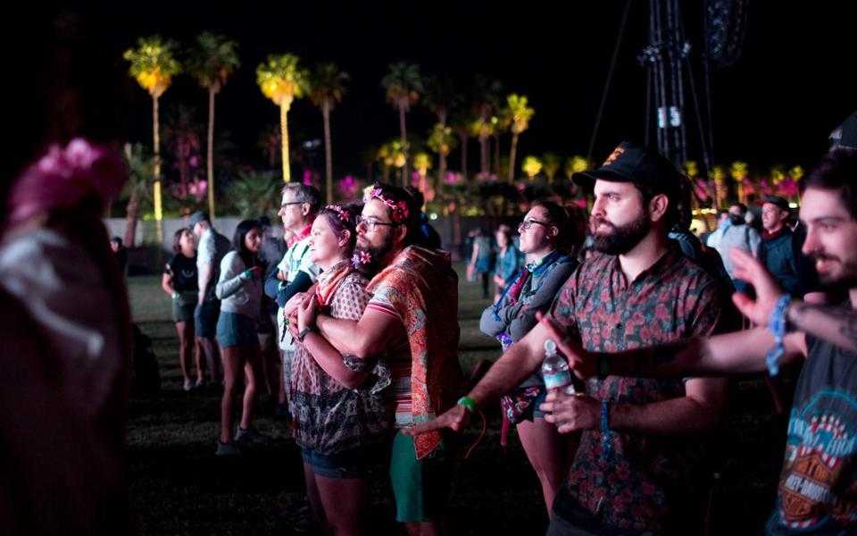 Fans at the Coachella Music and Arts Festival in Indio, Calif.