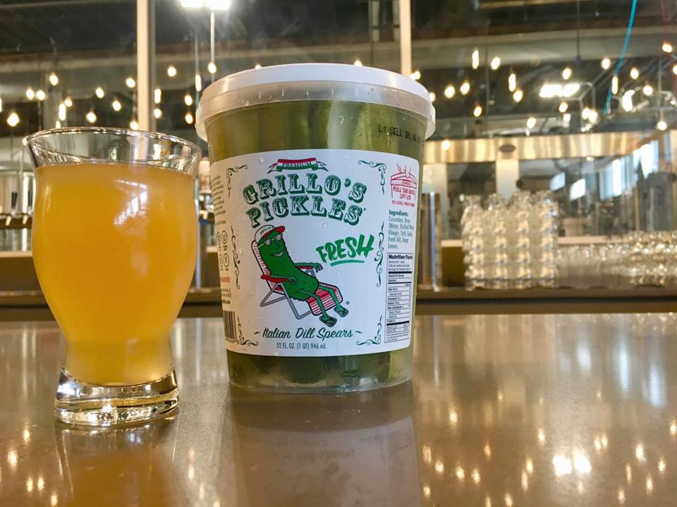 Down the Road brews Sam-Sam the Pickle Man in collaboration with Grillo's Pickles.