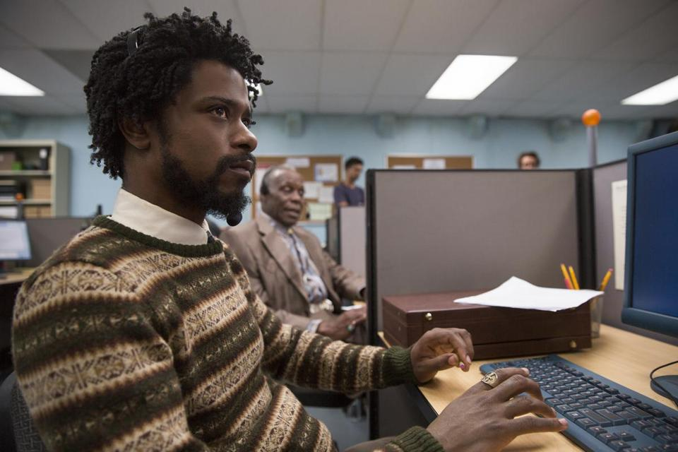 (l to r.) Lakeith Stanfield as Cassius Green and Danny Glover as Langston star in Boots Riley's SORRY TO BOTHER YOU, an Annapurna Pictures release.