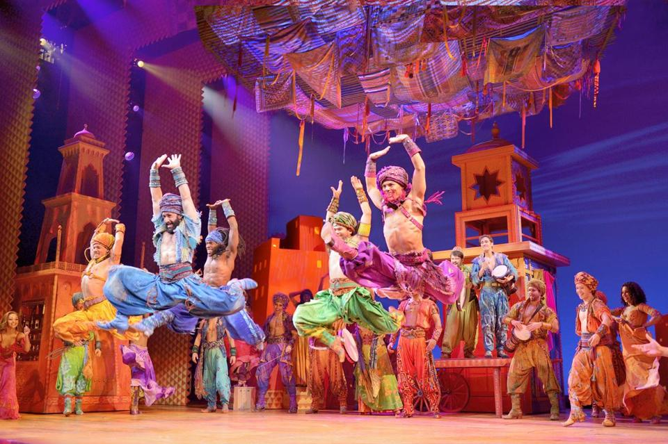 "The opening number ""Arabian Nights"" sets the stage for Disney's onstage version of ""Aladdin."""