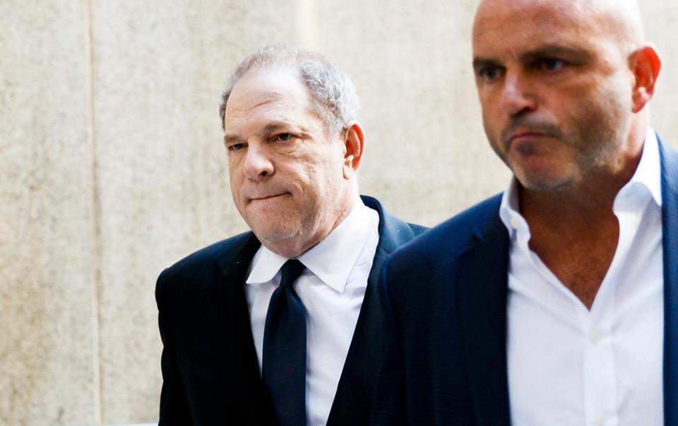 Harvey Weinstein arrived to the Criminal Courts Building to be face new charges in State Supreme Court of committing forcible sex on a third woman in New York on Monday.