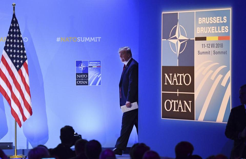 Donald Trump again says he's a 'very stable genius' at North Atlantic Treaty Organisation  summit