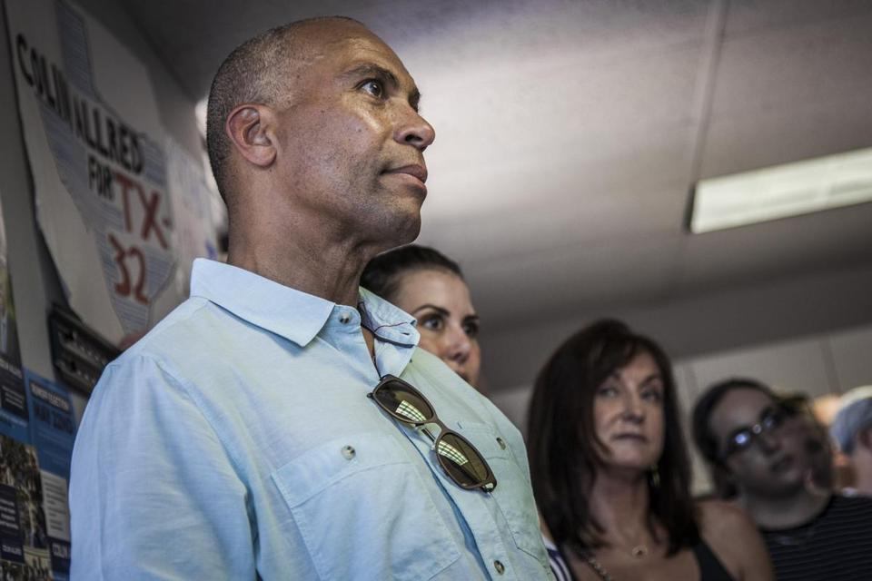 Deval Patrick during a stop in Richardson, Texas, last year while campaigning for local candidates. The former Massachusetts governor is considering entering the 2020 presidential primary.