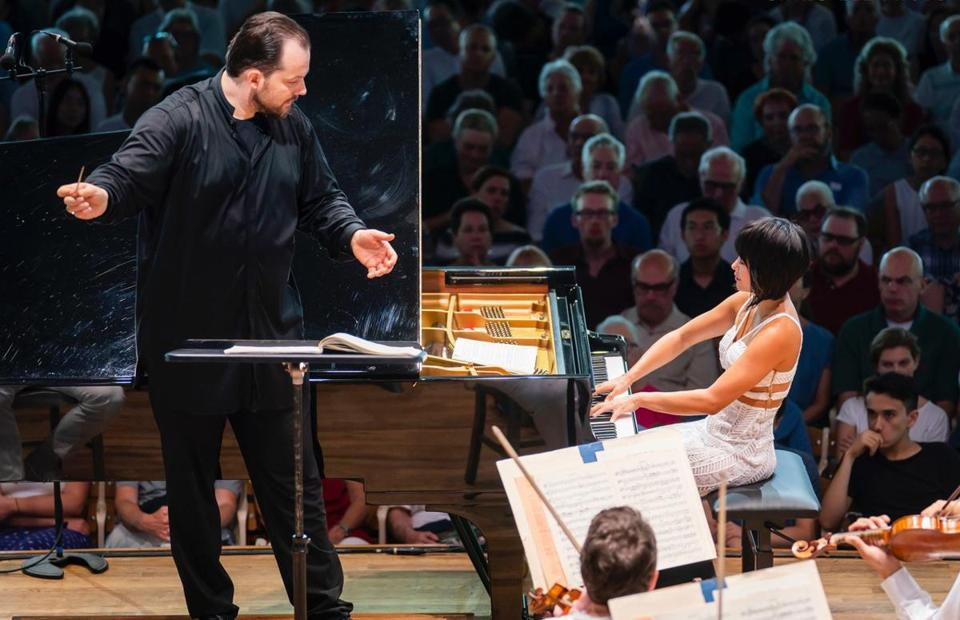 Andris Nelsons leads the BSO and pianist Yuja Wang in Beethoven's Piano Concerto No. 1 at Tanglewood.