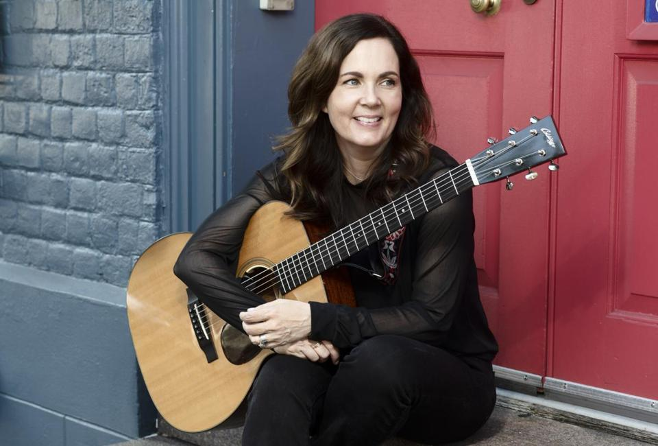 "Country singer-songwriter Lori McKenna - photographed in Annapolis, Maryland, last month - says she aims to push her songs to ""the edge of whatever it is."" MUST CREDIT: Washington Post photo by Marvin Joseph"