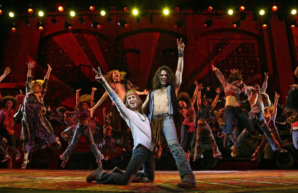 "Gavin Creel as Claude and Will Swenson as Berger in the 2009 Broadway revival of ""Hair: The American Tribal Love-Rock Musical,"" directed by Paulus."