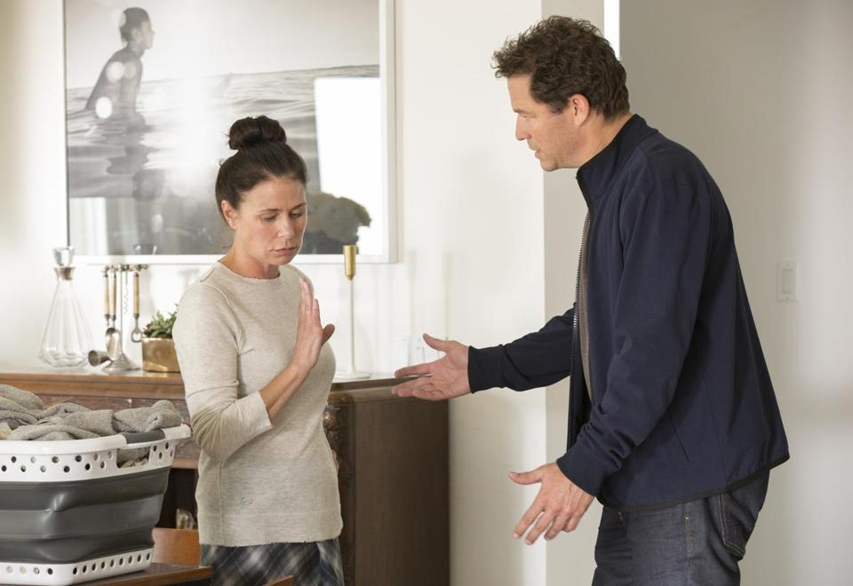 "Maura Tierney and Dominic West in Showtime's ""The Affair."""