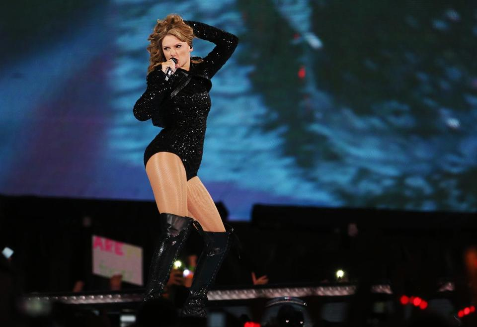 Taylor Swift during her Thursday night concert at Gillette Stadium