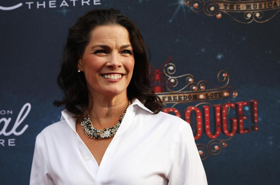 BOSTON, MA - 07/29/2018 Nancy Kerrigan (cq) stands for a photo at the Emerson Colonial Theatre celebration of its re-opening gala performance with Moulin Rouge! The Musical with various red carpet guests. Erin Clark for the Boston Globe