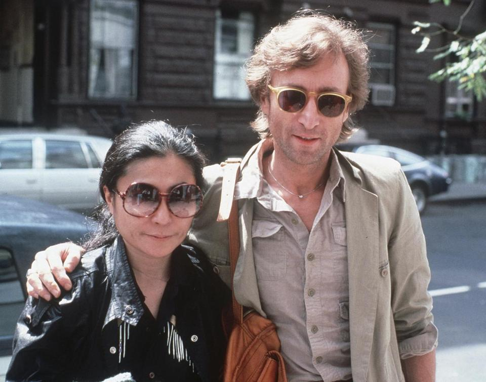 John Lennon and Yoko Ono arrive at The Hit Factory, a recording studio in New York City, in August 1980.