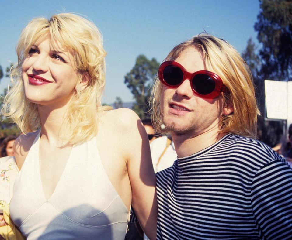 Kurt Cobain and Courtney Love.