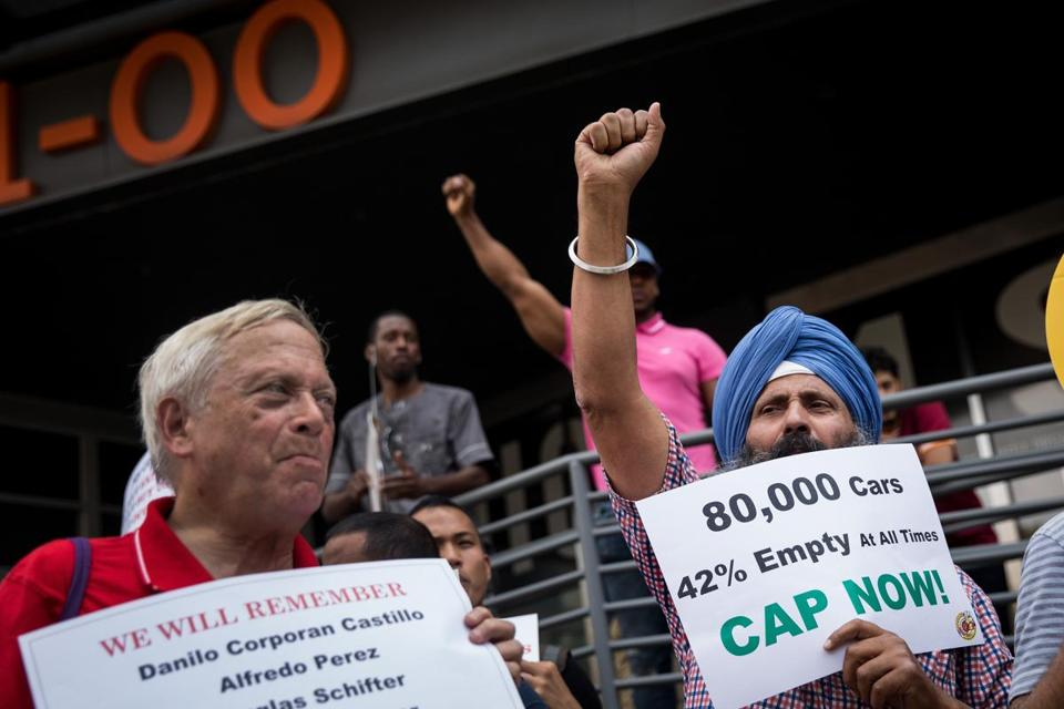 Uber drivers log off to protest upfront pricing and pooling