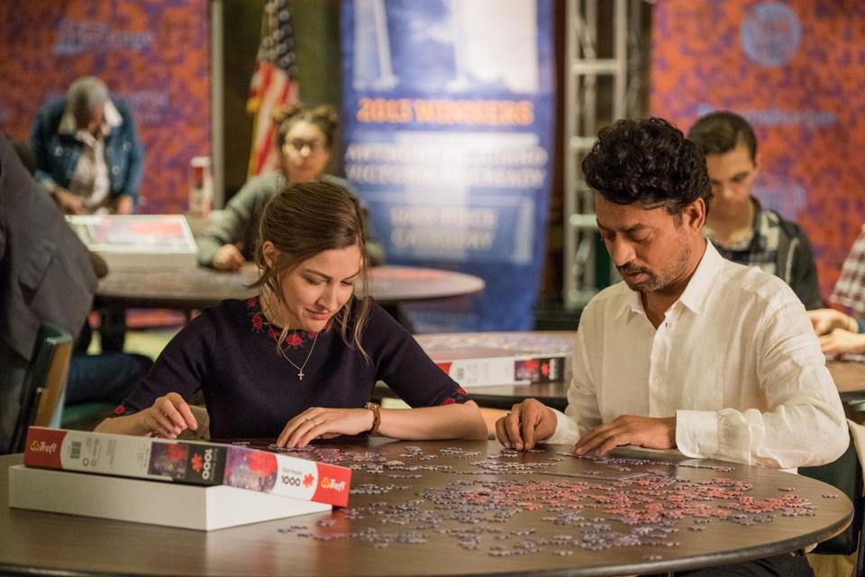 "Kelly Macdonald and Irrfan Khan star in ""Puzzle."""