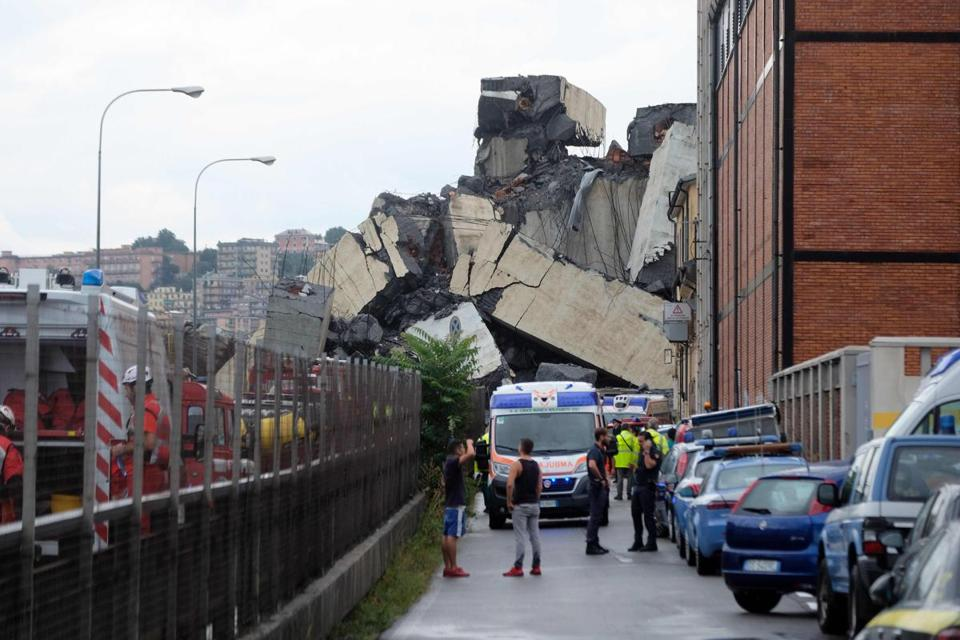Rescue teams continue search for Italy bridge collapse survivors