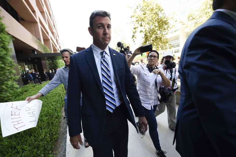 House GOP Planning to Remove Rep. Hunter From Committees