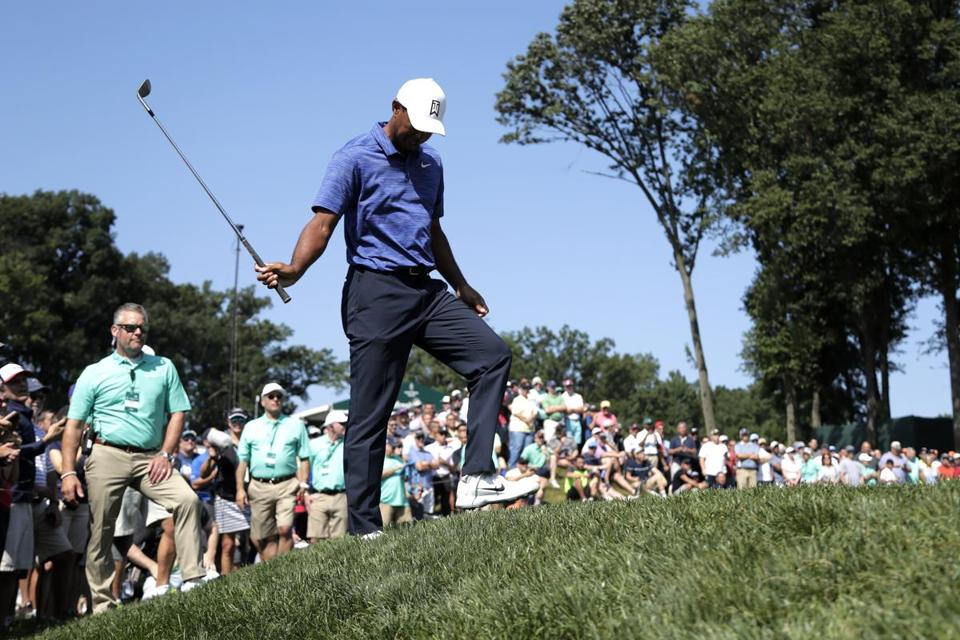Highlights from Tiger Woods' second-round 71 at Northern Trust