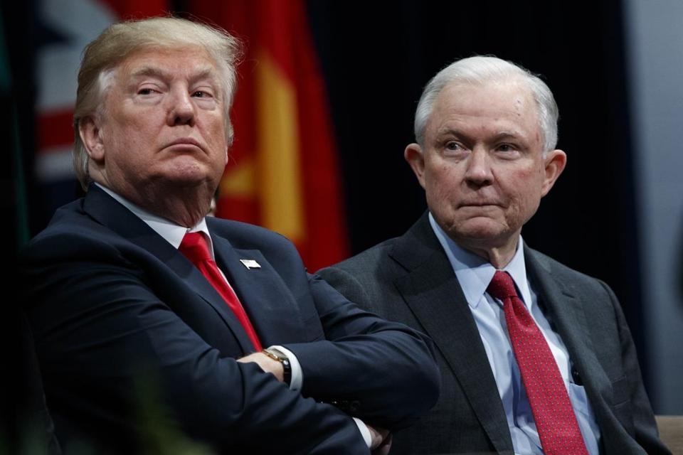 Trump Attacks Sessions for Filing Charges Against 2 Republican Congressmen