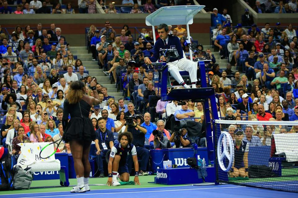 "Serena Williams called umpire Carlos Ramos a ""thief"" for stealing a game from her in Saturday's US Open final."