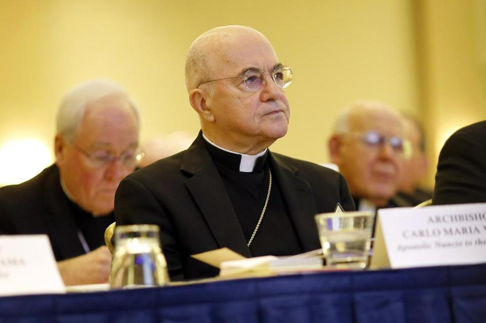 Archbishop Carlo Maria Vigano says Vatican officials covered up a cardinal's misconduct