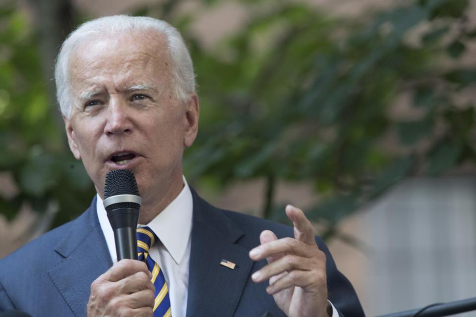 Former vice president Joe Biden is schuduled to return to Boston at the end of September.