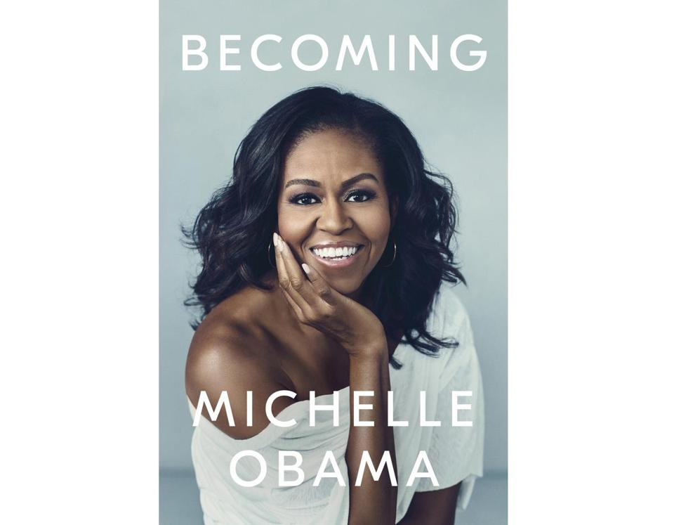 "The cover for Michelle Obama's book, ""Becoming."""