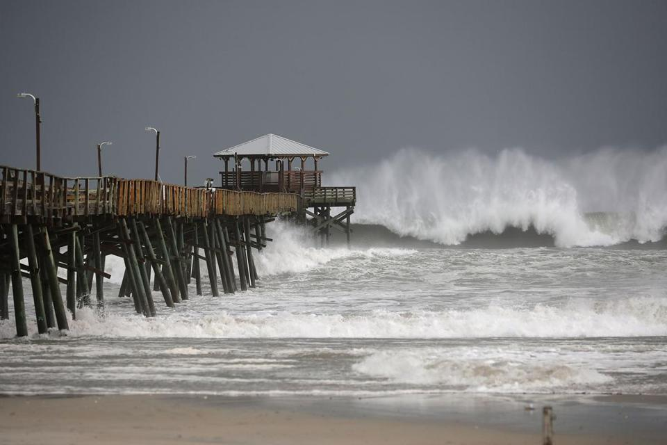 THREATENING STORM: Hurricane Florence makes landfall in North Carolina
