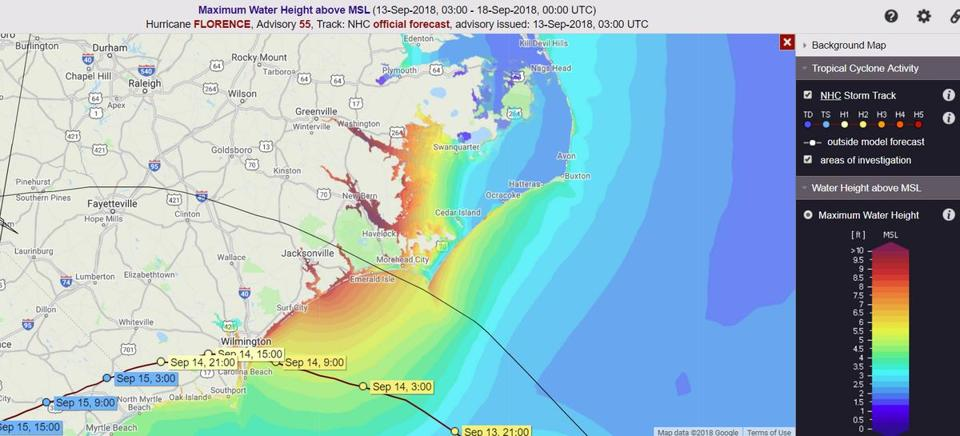The latest storm surge has some areas under more than 8 feet of water.