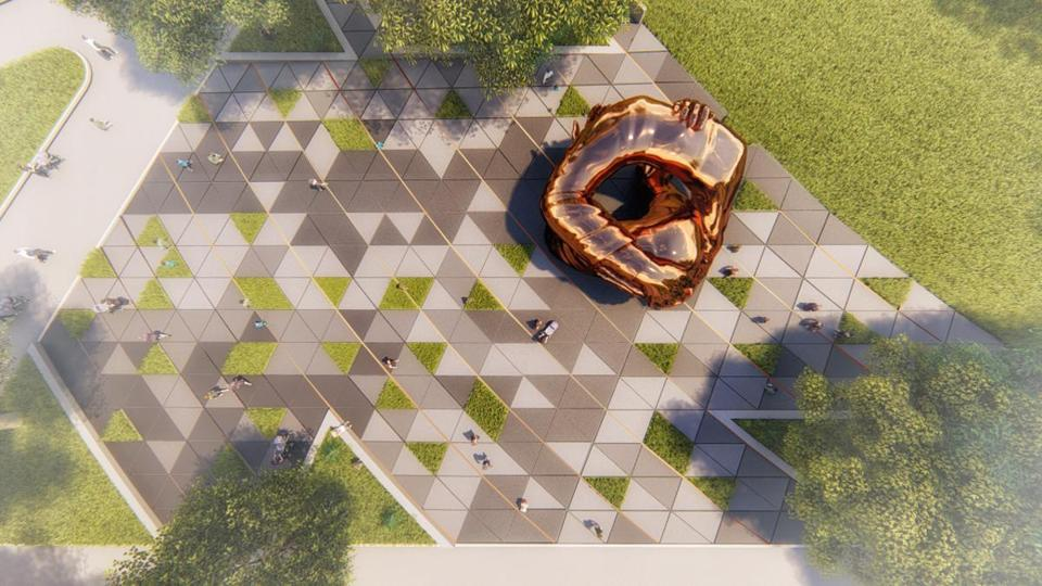 """The Embrace"" memorial on Boston Common will be surrounded by open space."