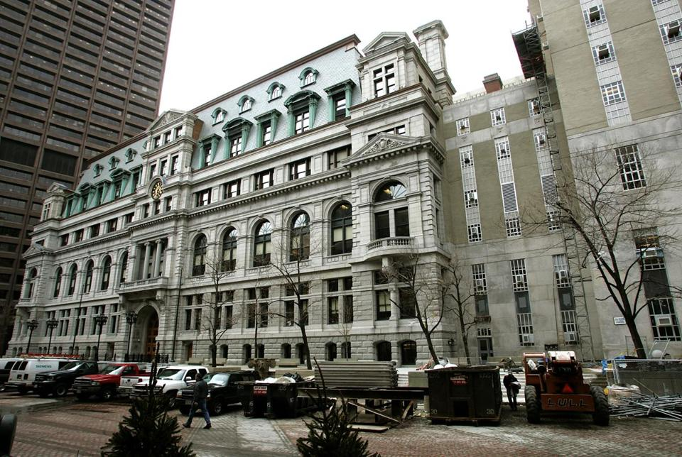 The John Adams Courthouse houses the Massachusetts Supreme Judicial Court.