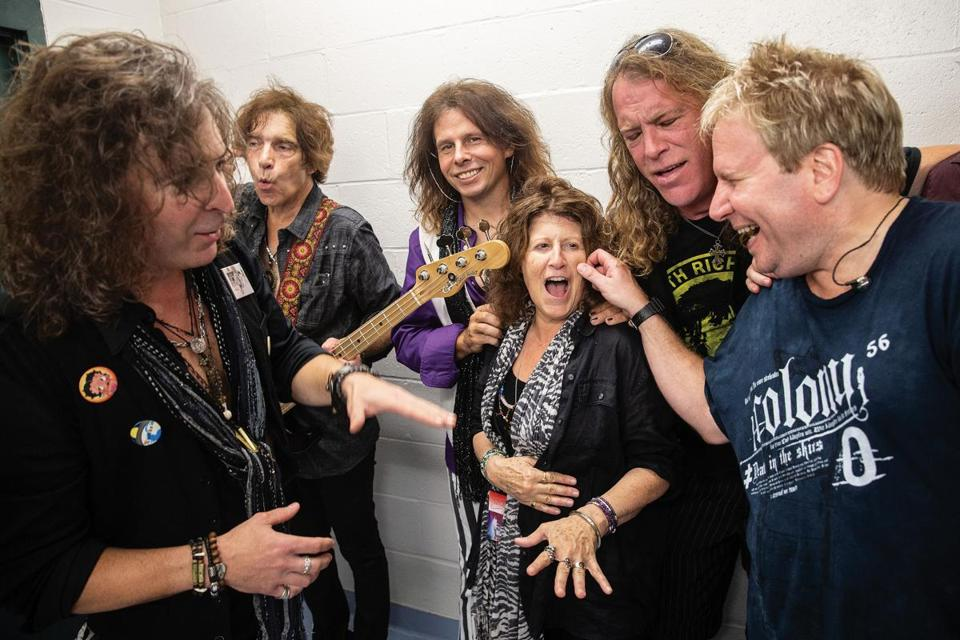 The band with Joe Perry's sister, Annie Perry, who occasionally sings backup with Draw The Line.